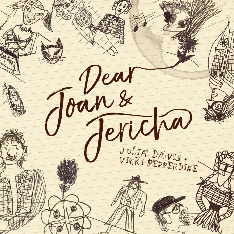 dear joan and jericha podcast julia davis vicki pepperdine illustration
